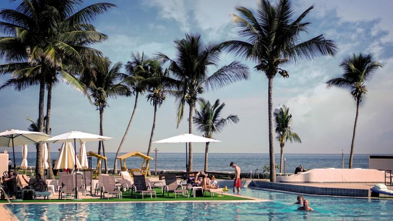 Sunbeach Hotel und Resort in Bakau, Gambia P
