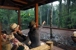 La Cantera Jungle Lodge Terrasse