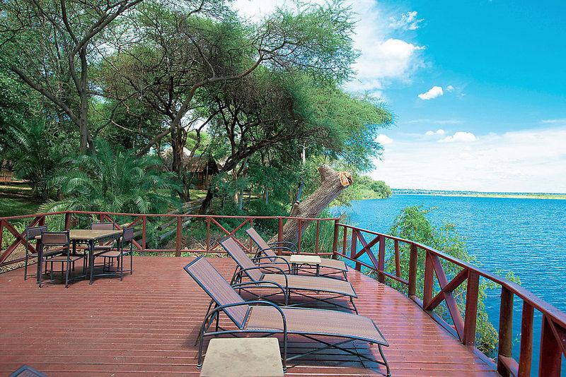aha Chobe Marina Lodge Terrasse