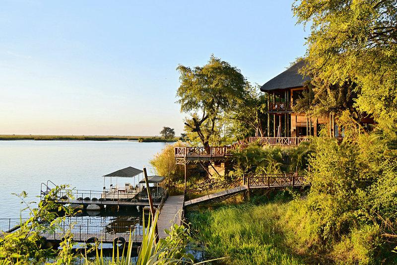 aha Chobe Marina Lodge Garten