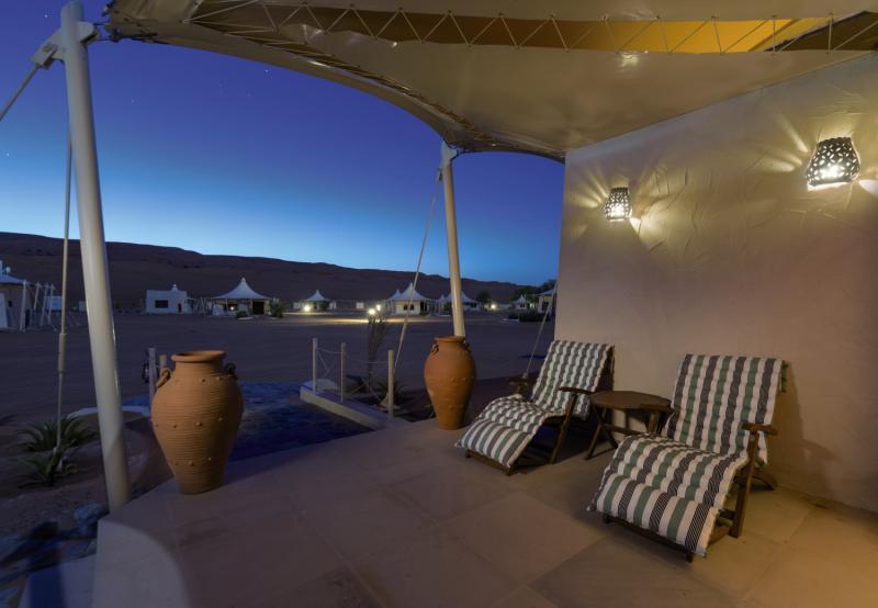 Desert Nights Camp Terrasse