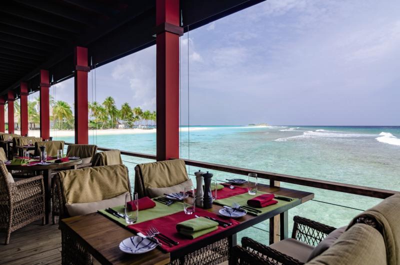 Finolhu Baa Atoll Maledives  Terrasse