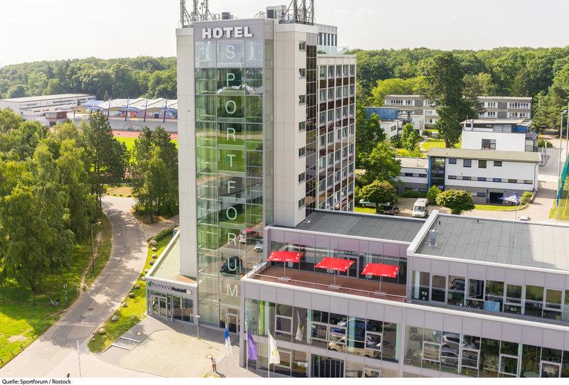 Hotel Sportforum Außenaufnahme